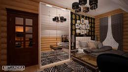 Коттедж п. Устиновка: Спальни в . Автор – дизайн-бюро ARTTUNDRA
