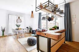 Salon i kuchnia : styl , w kategorii Kuchnia zaprojektowany przez ARTEMIA DESIGN
