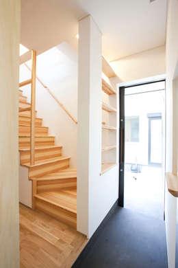 西品川の家: 光風舎1級建築士事務所が手掛けた玄関・廊下・階段です。