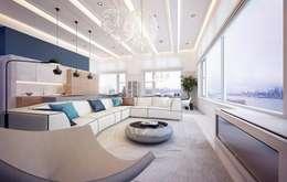 Projekty,  Salon zaprojektowane przez KAPRANDESIGN