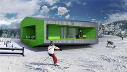 Projekty, minimalistyczne Domy zaprojektowane przez  Aleksandr Zhydkov Architect