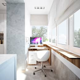 Студия архитектуры и дизайна ДИАЛ: minimal tarz tarz Oturma Odası