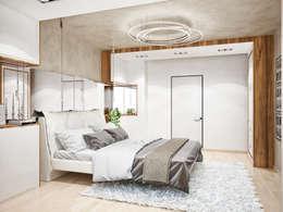 Студия архитектуры и дизайна ДИАЛ: minimal tarz tarz Yatak Odası