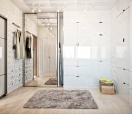 minimalistic Dressing room by Студия архитектуры и дизайна ДИАЛ