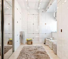 Студия архитектуры и дизайна ДИАЛ: minimal tarz tarz Giyinme Odası