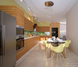 Студия интерьерного дизайна happy.design: modern tarz Mutfak