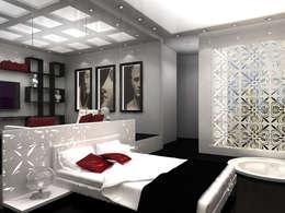 michel bandaly : modern tarz Yatak Odası