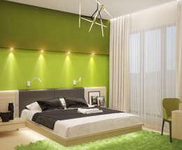 Dormitorios de estilo minimalista por Студия дизайна Interior Design IDEAS