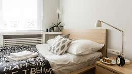 MIESZKANIE WAKACYJNE STYL SKANDYNAWSKI - AVIATOR - GDAŃSK: styl , w kategorii Sypialnia zaprojektowany przez Anna Serafin Architektura Wnętrz