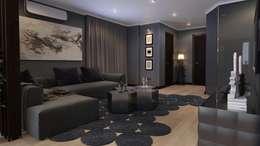 Квартира для холостяка: Гостиная в . Автор – Mushulov Project