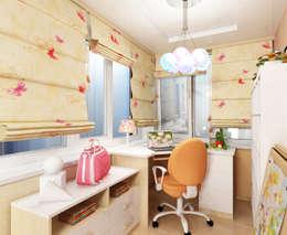 Dormitorios infantiles de estilo ecléctico por ПРОЕКТНАЯ СТУДИЯ Ирины Щуровой ДОМ