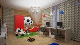 Коттедж п. Устиновка: Детские комнаты в . Автор – дизайн-бюро ARTTUNDRA
