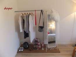Vestidores y closets de estilo minimalista por EFFEtto Home Staging
