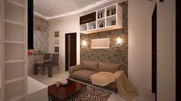 غرفة المعيشة تنفيذ дизайн-бюро ARTTUNDRA
