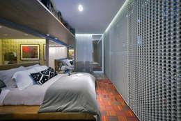 Loft Sustentável - Ambiente da Casa Cor SC  2015: Quarto  por Studium Saut Arte & Interiores