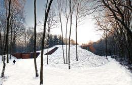 Dutch Mountain: moderne Huizen door KRFT