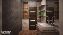 Projekty,  Łazienka zaprojektowane przez дизайн-бюро ARTTUNDRA