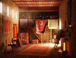 Стены и пол в . Автор – Karacahan Carpet Rug