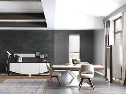 NILL'S FURNITURE DESIGN – Bade Yemek Odası: modern tarz Yemek Odası