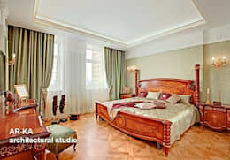 Принцип семейного совета: Спальни в . Автор – AR-KA architectural studio