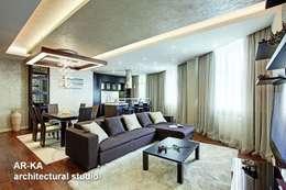 Жизнь в ШОКОЛАДЕ : Гостиная в . Автор – AR-KA architectural studio