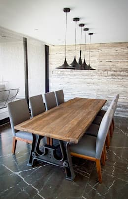 Departamento CL: Comedores de estilo moderno por Concepto Taller de Arquitectura