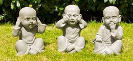 Shaolin kindermonniken Horen, Zien en Zwijgen: aziatische Tuin door Inspiring Minds