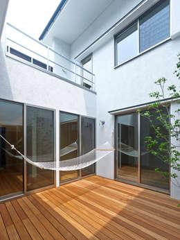 modern Garden by 鶴巻デザイン室