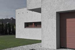 Projekt domu jednorodzinnego - Poznań: styl nowoczesne, w kategorii Domy zaprojektowany przez Konrad Idaszewski Architekt