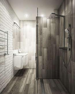 Projekty,  Łazienka zaprojektowane przez Eclectic DesignStudio