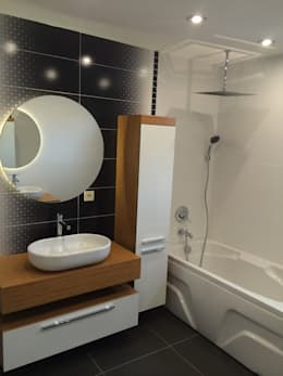 HEBART MİMARLIK DEKORASYON HZMT.LTD.ŞTİ. – Alparslan Tekin Evi: modern tarz Banyo
