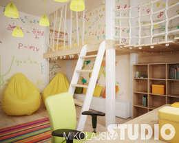 modern Nursery/kid's room by MIKOŁAJSKAstudio