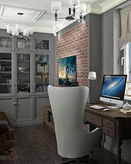 Кабинет: Рабочие кабинеты в . Автор – Yurov Interiors
