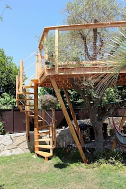 Jardines de estilo mediterraneo por Cabaneo