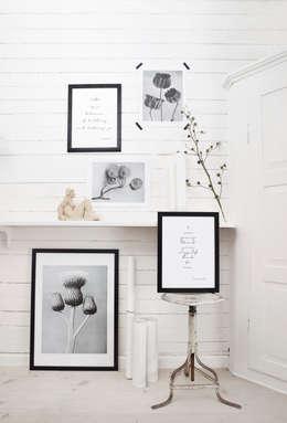 Obrazek w czarnej ramce: styl , w kategorii Ściany i podłogi zaprojektowany przez Chwila Inspiracji