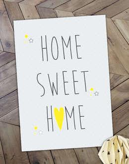 """Affiche """"Home Sweet Home"""", idéal pour une petite déco sympa: Salle à manger de style de style Moderne par Suite Créative"""