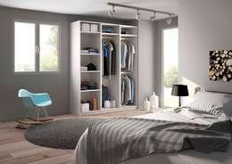 armoire dressing dressing de style de style moderne par centimetrecom - Comment Faire Un Dressing Dans Une Petite Chambre