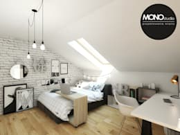 Pokój nastolatki: styl , w kategorii Pokój dziecięcy zaprojektowany przez MONOstudio