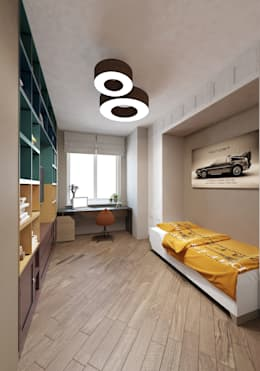 Квартира 70м2. Москва 2014г.: Детские комнаты в . Автор – tim-gabriel