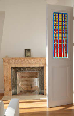 Ramen & deuren door Catherine Nafziger - Atelier Kats Vitrail