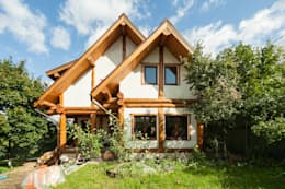 Projekty, rustykalne Domy zaprojektowane przez Smart Wood