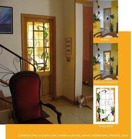 Vitrail art nouveau: Fenêtres & Portes de style de style Classique par Verre et Vitrail