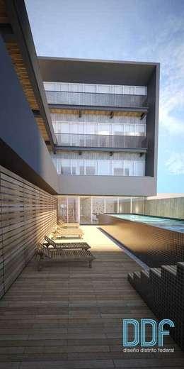 Querétaro Q3: Albercas de estilo minimalista por Diseño Distrito Federal