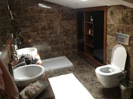 HEBART MİMARLIK DEKORASYON HZMT.LTD.ŞTİ. – Hüseyin  Aymutlu Evi: modern tarz Banyo