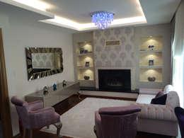 modern Living room by HEBART MİMARLIK DEKORASYON HZMT.LTD.ŞTİ.