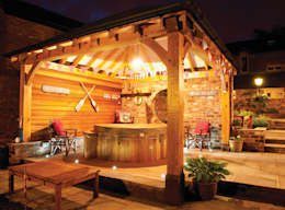 Gazebo's and Pavilions: mediterranean Spa by Cedar Hot Tubs UK