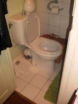 Espace salle de bain WC avant :  de style  par Sara Camus Bouanha Architecture Interieure