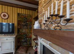 Salas / recibidores de estilo rural por Студия интерьерного декора PROSTRANSTVO U