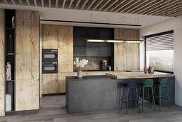 Cocinas de estilo moderno por razoo-architekci