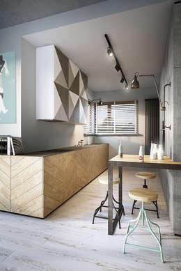 razoo-architekci: endüstriyel tarz tarz Mutfak